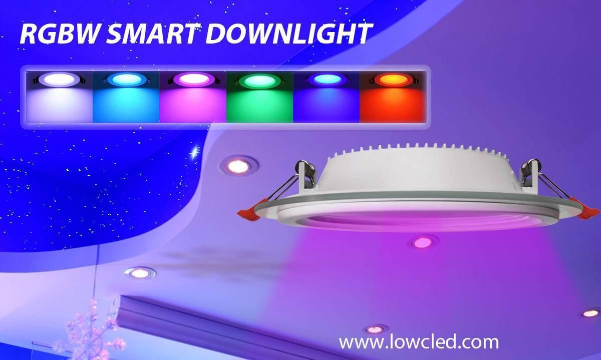 40W 600*600 RGBW Smart Panel Lighting Bluetooth Wifi Alexa Voice Control Smart Led Panel