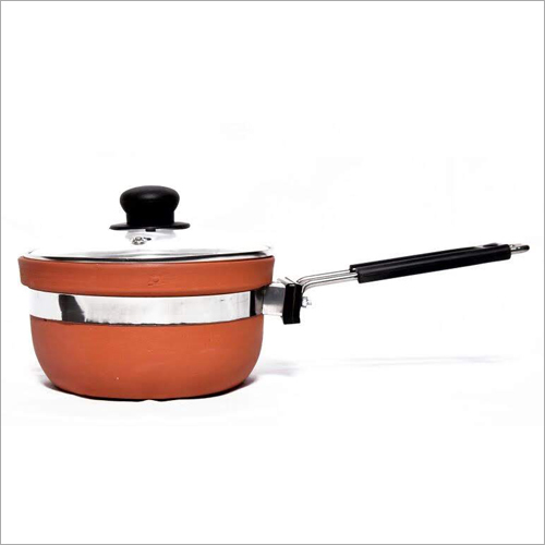 1.5 Ltr Terracotta Fry Pan With Lid