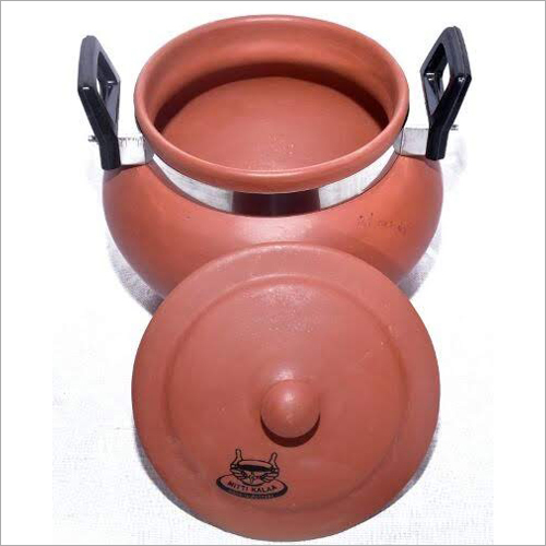 Terracotta Dal Handi With Handle