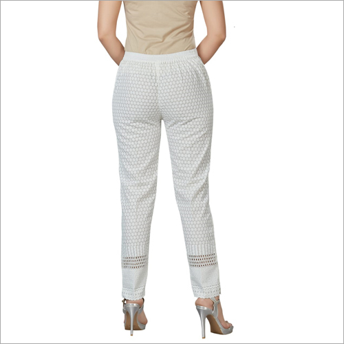 Chikan White Pant