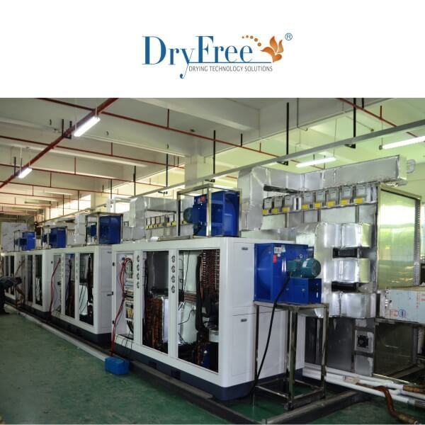 Heat pump food drying line