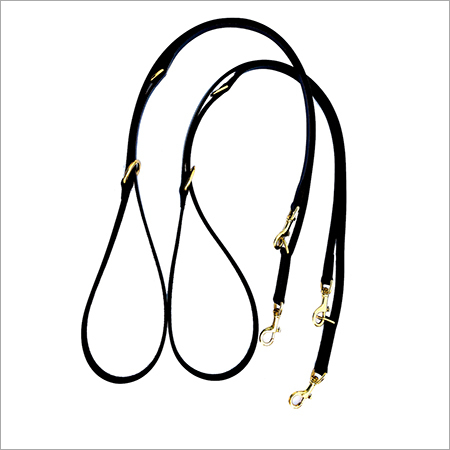 Dog Leashes Black Leather