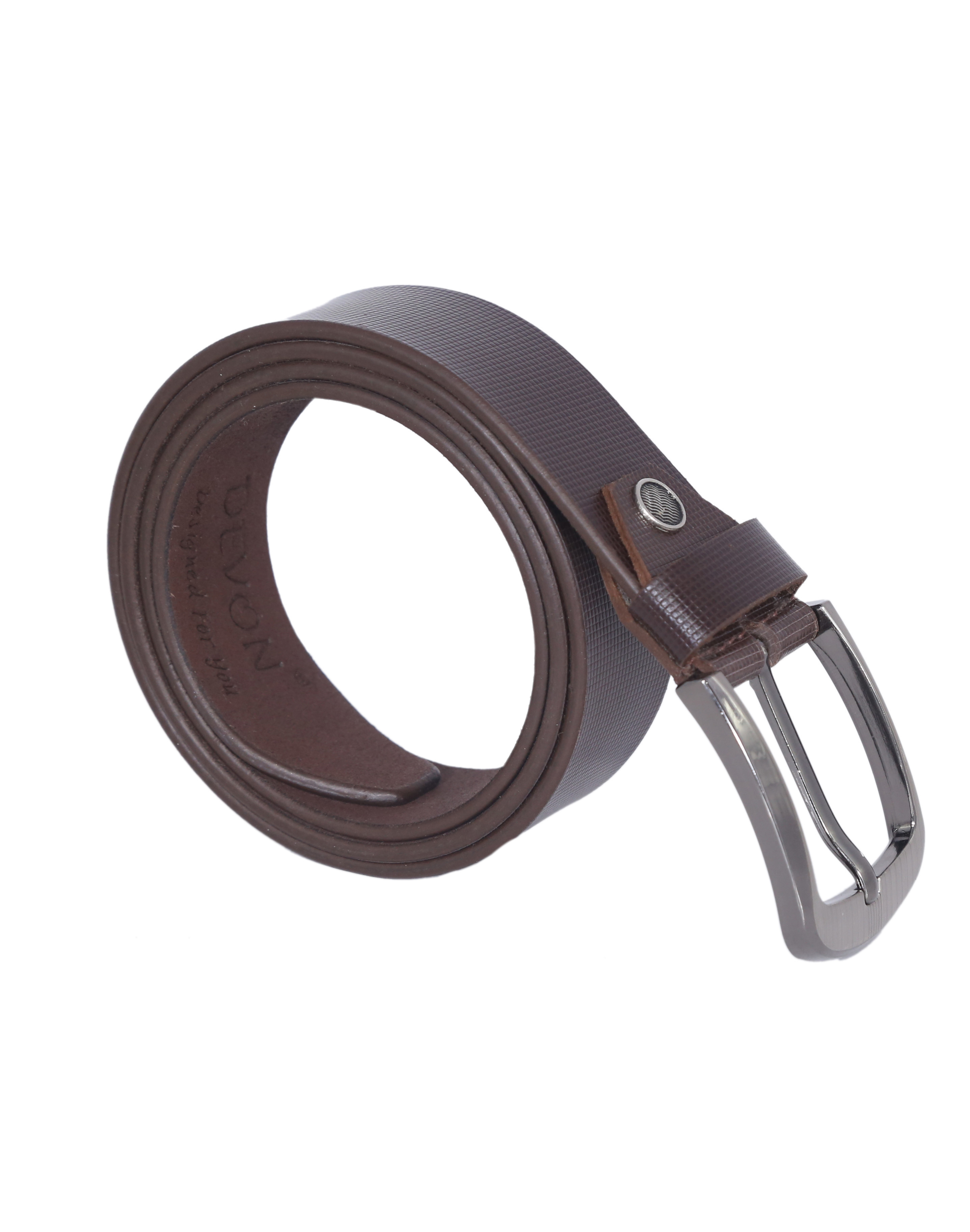 Small Check Leather Belt