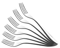 Oslo 304 Grade, 18/10 & Cup Rolled Dinner Fork 6 Pcs