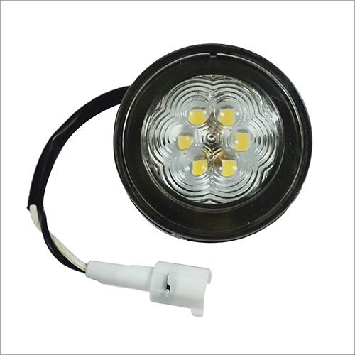 前面位置圆的光6 LED (白色)
