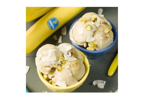 Banana ice cream flavour