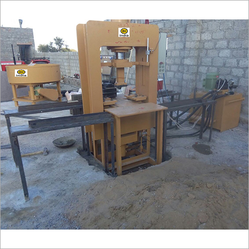 Semi Auto Paver Block Machine
