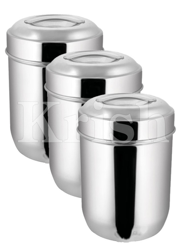 Apple Canister with Pull Back on Lid