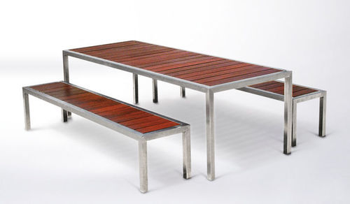 iron bench table