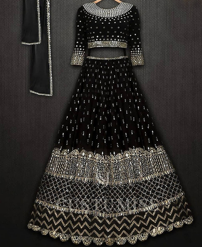 Black Georgette Lehenga Choli