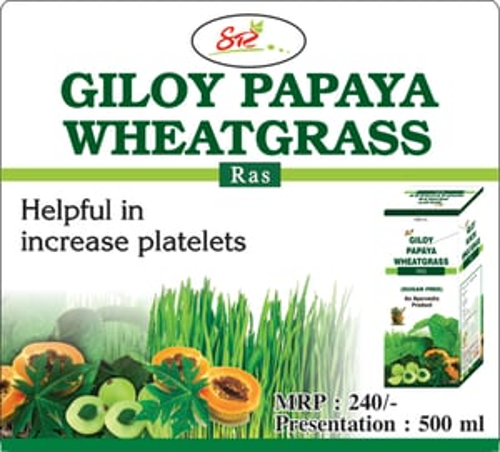 Giloy Papaya wheatgrass