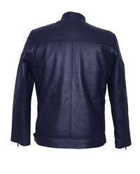 Men Blue Leather Jacket