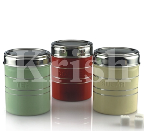 Coloured See Through Canister T/S/C