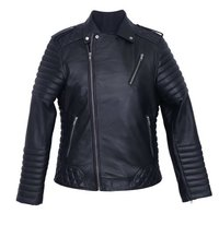 Men Black Leather Jacket