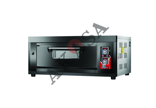Gas Oven Single Deck Two Tray with Stone