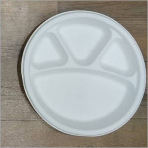 4 Compartment Paper Plate