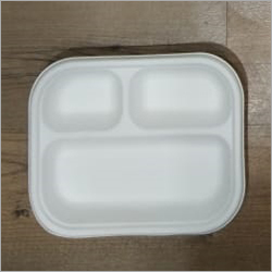 3 Compartment Square Paper Plate