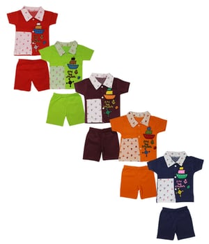 Baby Boys And Baby Girls Casual T-shirt Shorts