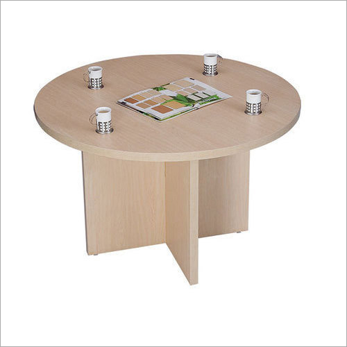 Round Wooden Cafeteria Table