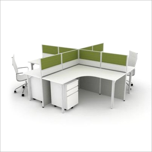 Four Seater Wooden Workstation