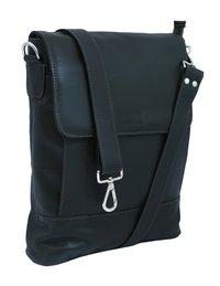 Black Leather Laptop Bag