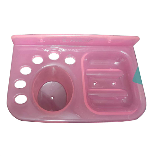 Plastic Wall Mounted Soap Case And Brush Holder