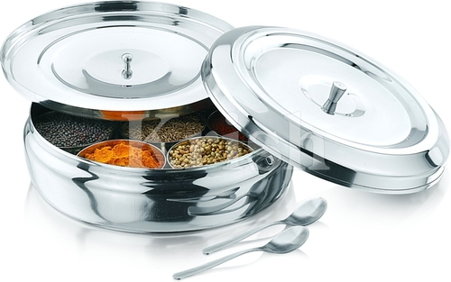 See Through Lid Masala Dabba- Belly