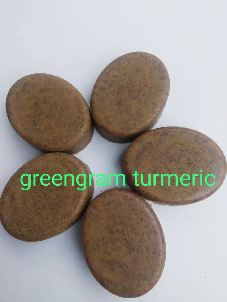 Green Gram And Turmeric Herbal Soap