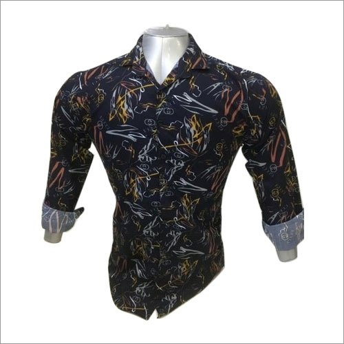 Mens Blue Full Sleeve Shirt