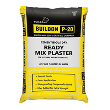 BUILDON P - 20 CEMENTITIOUS DRY READY MIX PLASTER