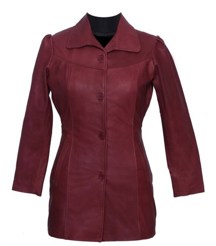 Leather Women Overcoat