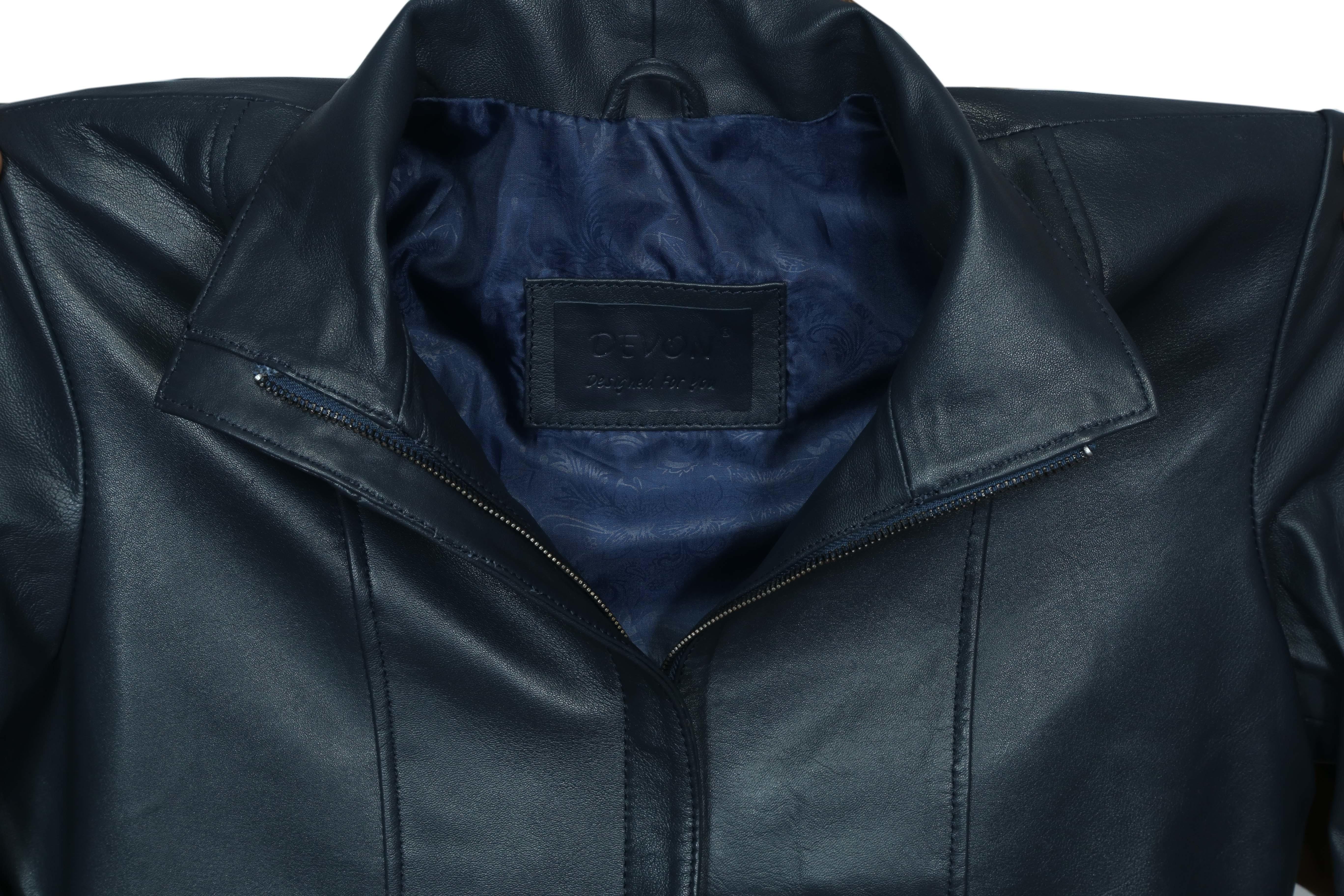 Leather Women Overcoat