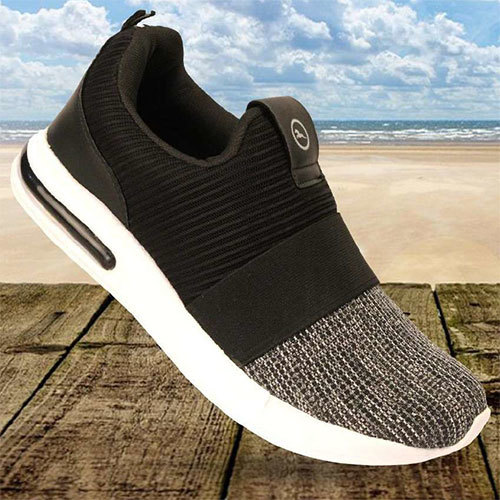 Black Grey Trendy Casual Shoes