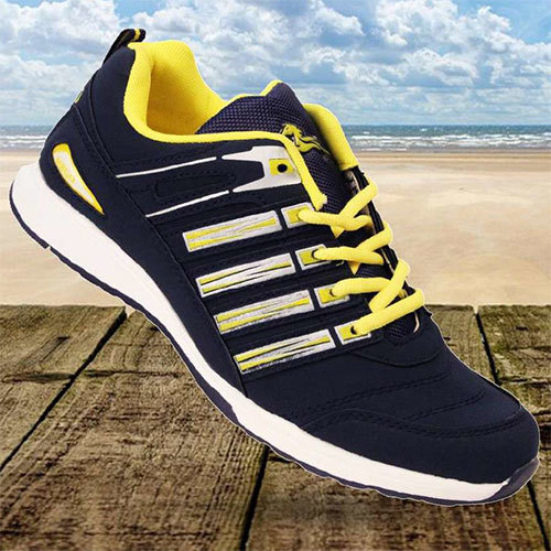 N.Blue Yellow Sports Shoes