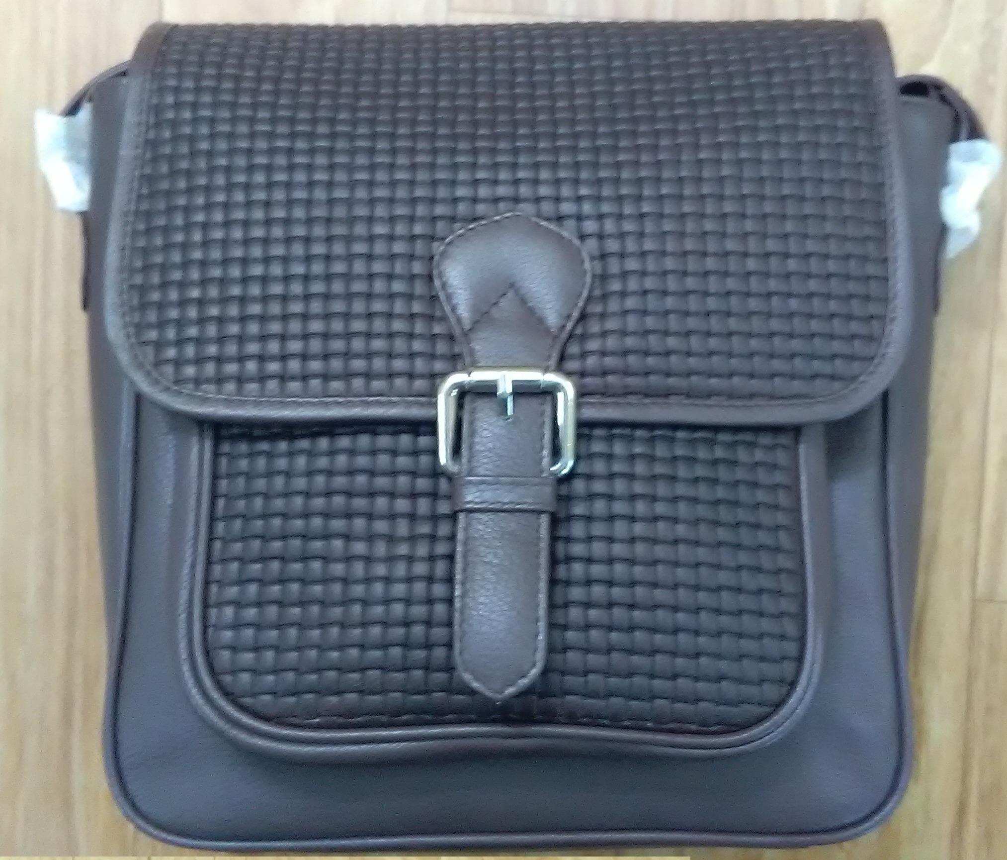 Black Cross Body Leather Handbag