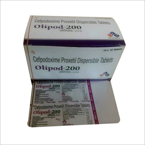 Cefpodoxime Proxetil Dispersible Tablets