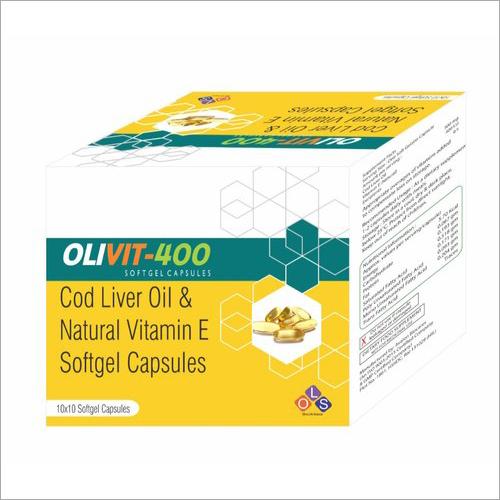 Cod Liver Oil And Natural Vitamin E Softgel Capsules