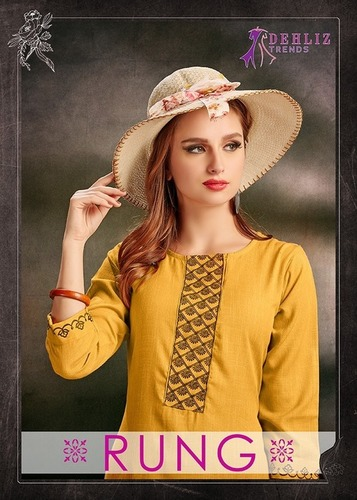 Rayon Fancy Long Embroidery Kurtis