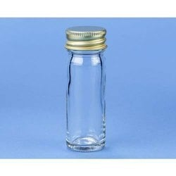 Bottle, McCartney Universal, Wide Mouth, Clear Neutral Glass,Autoclavable with Aluminium cap And rubber Washer