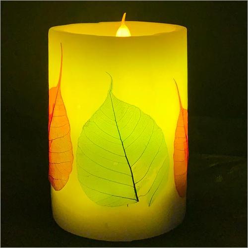 Savitur Leaf Cylinder LED Candle