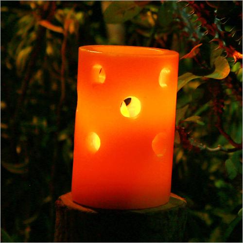 Savitur Orange Lantern LED Candle