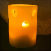 Orange Lantern LED Candle