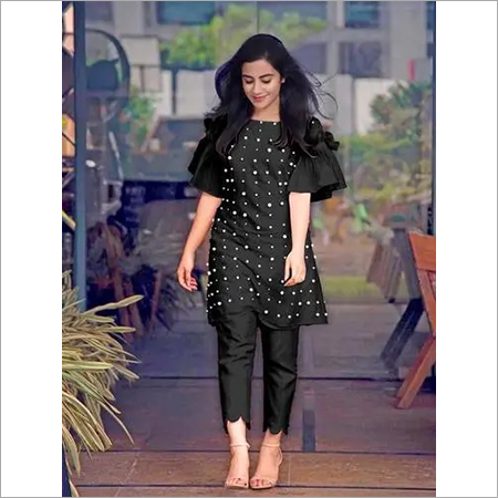 Pearl Kurti with Glamours  Pants
