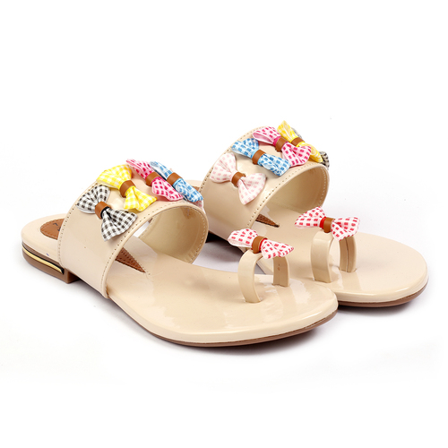 SYNTHETIC MATERIAL FLAT SLIPPER WOMEN'S AND GIRLS