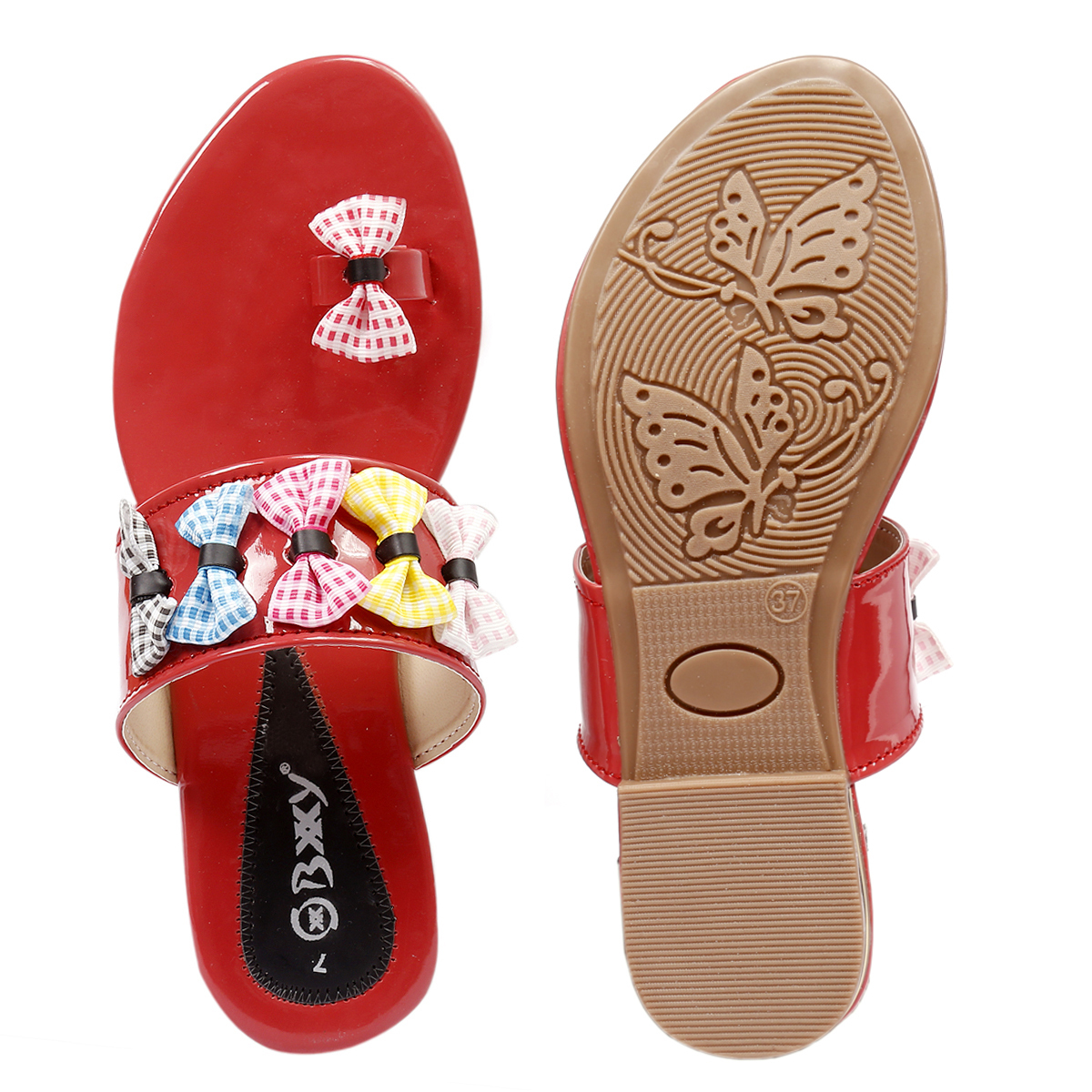 Ladies Synthetic Flat Sandals