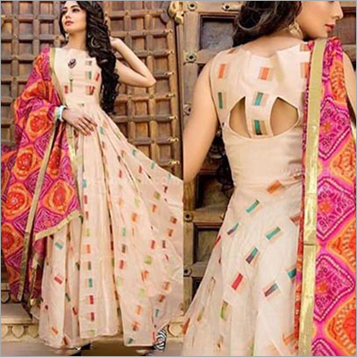Ladies Long Anarkali Cotton Suit