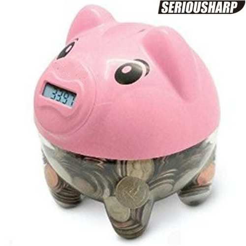 Digital Coin Counting Piggy Bank