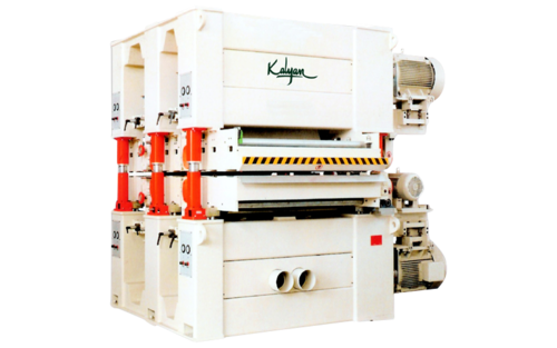FOUR  HEAD TOP AND BOTTOM / DOUBLE DECK WIDE BELT SANDING MACHINE (KID-1300-R-RP)