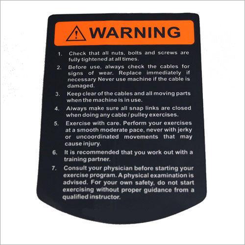 Vinyl Warning Sticker