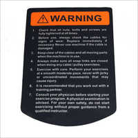 Vinyl Warning Sticker